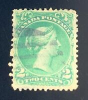 Canada Stamps. SC 24b. (Thin Paper). 1868. Used. **COMBINED SHIPPING**