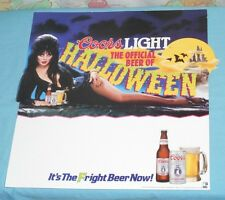 original ELVIRA COORS LIGHT beer Halloween shelf talker sign