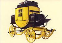 AK: Postschlitten mit aufsteckbaren Rädern, um 1900