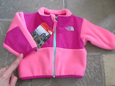 NEW THE NORTH FACE DENALI PINK FULL ZIP FLEECE JACKET BABY GIRL INFANTS 0-3 M