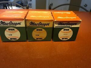 Lot Of 3! All NEW!! Vintage MacGregor B33 And Two 100 Official Softball