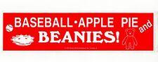 "Bumper Sticker ""Baseball, Apple Pie and BEANIES!"" Rosie Wells Ty Beanie Babies"