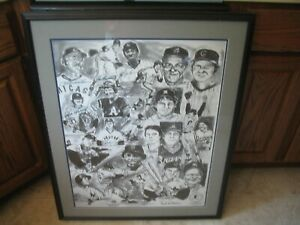 Major League Baseball Legends Huge 34 x 28 Signed Autographed Picture Framed