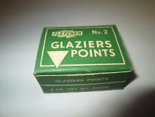Vintage FLETCHER TERRY Box GLAZIERS POINTS No. 2 for setting window glass