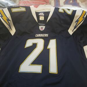 BRAND NEW SD CHARGER # 21 LaDAINIAN TOMLINSON AUTOGRAPH JERSEY W/CERT  SIZE- 48