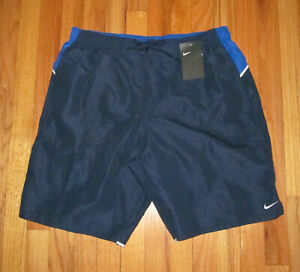 Nike Mens Navy Blue Swimtrunks Shorts L NWT $48