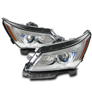 FOR 14 15 16 BUICK LACROSSE REPLACEMENT CHROME PROJECTOR HEADLIGHT HEADLAMP PAIR