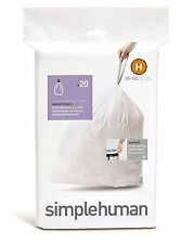 Simplehuman code/size H (30-35 litres) bin bag liner, CW0168 (5 Packs of 20)