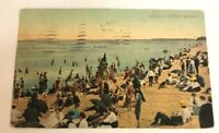 Coney Island NY Bathing at the Beach Vintage New York Postcard 1909