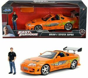 NEW - Fast and Furious Brian's Toyota Supra with Brian Figure 30738 1:24 Scale