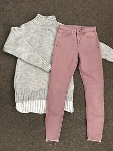 womens river island  10 Sweater Jumper Knitted Jeans Bundle Outfit