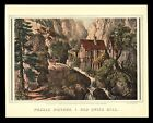 Currier & Ives Print - PUZZLE PICTURE: OLD SWISS MILL