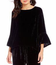 Bryn Walker Black Velvet Fran Shirt Tunic Silk Blend size Extra Large $228 NWT
