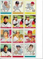 2007 Goudey MLB SP Lot of 12 Jeter Bench Mauer Gwynn Yaz Ichiro Utley Verlander
