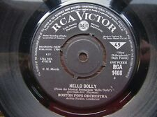 "BOSTON POPS ORCHESTRA I Want To Hold Your Hand-Hello Dolly RCA Victor 7"" 1964 EX"