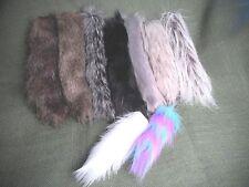 "Wolf Fox Accent 9"" TAIL Faux Fur w/Clip-9 COLORS- Black, White, Brown, Grey, etc"