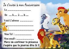 5 cartes invitations anniversaire La Garde du Roi Lion 03