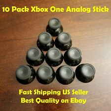10 Pcs Black Thumb Joy Analog Stick Replacements Parts For Xbox One Controller