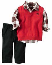 Carter's chaleco a cuadros camisa y pantalones de la edad de 9 meses TD099 KK 07