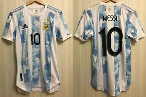 5+/5 AUTHENTIC Argentina #10 Messi 2020 home Size XS Adidas shirt jersey maillot