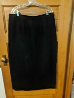 Style & Co Skirt Size 18W Black Straight Dress Career Midi Womens Collection