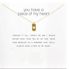 Small Heart Dog Tag Gold Style You Have A Piece Of My Heart Wish  Necklace