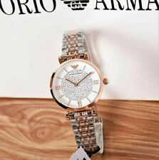 New Ladies Emporio Armαni Watch AR1926 Rose Gold White Silver Pave with Warranty