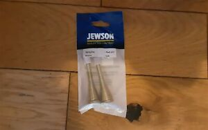 Jewson Brass Coloured 50mm Spring Door Stops . Pack Of 2