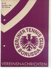 Tennis Borussia Berlin - Vereinsnachrichten - Dezember 1966