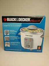 Black & Decker Home 3-Cup Rice Cooker Model RC3303