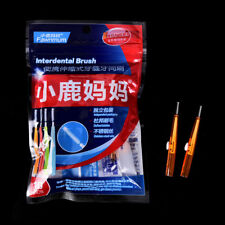 10x Push-pull Interdental Brush Orthodontic Dental Cleaning Brushes Toothpick AU Orange(0.7mm)