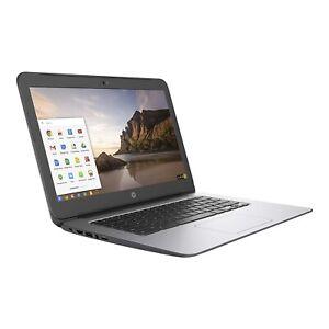 HP Chromebook G4 14 Inch 16GB SSD Intel N2840 2.16GHz 4GB Black-Silver