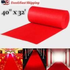 32ft Hollywood Red Carpet Floor Runner Birthday Wedding Party Supplies Decor Us