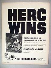 Hercules Motorcycle PRINT AD - 1966 ~~ Prior Hercules Corp., Sachs Motor