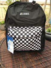 Everest Classic Woodland Black Backpack, Black/Black Square 16.5 x 13 x 6.5