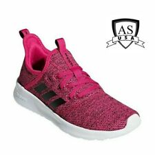Adidas Cloudfoam Pure Kid's Youth Size 5  Knit Slip On Shoes Magenta Black NEW