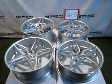 "22"" Blaque Diamond BD8 Concave Audi A7 S7 A8 A8L Staggered Silver Wheels W612Q"