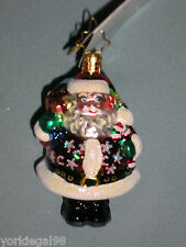 Radko Little Gem Chubb - A - Dubb Santa Christmas Ornament New With Tag No Box