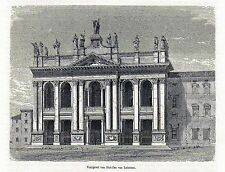 Antique print Rome Italy 1870 stampa antica San Giovanni in Laterano Roma