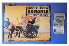 "Targa vintage ""Banania, le tresor des enfants"", metallo, cm 25x20"