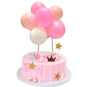 10Pcs Mini Balloon Cake Topper Baby Shower DIY Wedding Birthday Party Decor