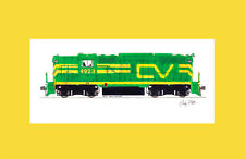 """Central Vermont GP9 #4923 11""""x17"""" Matted Print Andy Fletcher signed"""