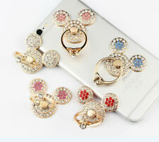 360 Rotating Finger Ring Stand Holder For Cell Phone Tablet - Cute Crystal Mouse