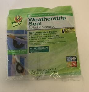 DUCK BRAND XL Gap NEW Weatherstrip Seal NIP HOMESMART EARTH FRIENDLY Window Door
