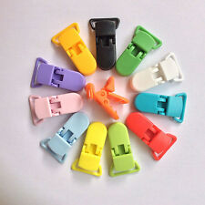10PCS Randomly Color Plastic Pacifier Clips Soother Suspender Holder Baby.AU