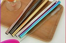 Reusable Straw Stainless Steel Spoon Washable Picnic Set Extra Wide Bar Tools