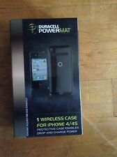 Duracell Powermat Black Apple I phone 4/ 4S Case