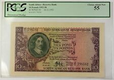 1952-58 18.12.1952 South Africa 10 Pounds Bank Note SCWPM# 99 PCGS Choice 55