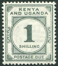 KENYA & UGANDA-1933 1/- Grey-Green Postage Due Sg D6 LIGHTLY MOUNTED MINT V34454