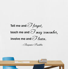 Benjamin Franklin Quote Wall Decal Vinyl Sticker Home Office Art Decor 97quo